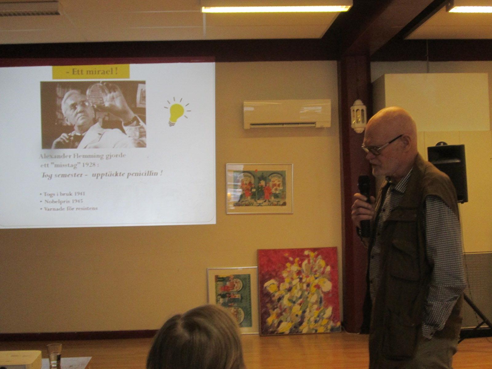 Claes Toreld talar om antibiotikaresistens