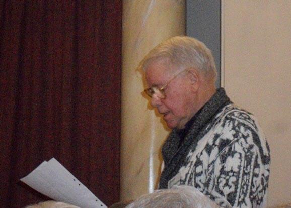 Sven Torstensson läser en dikt