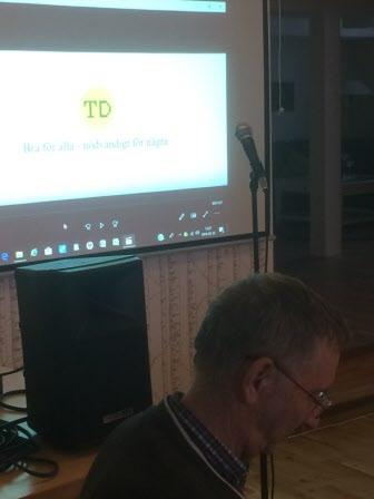 Kristina G berättade engagerat om TD dvs tillgänglighetsdatabasen