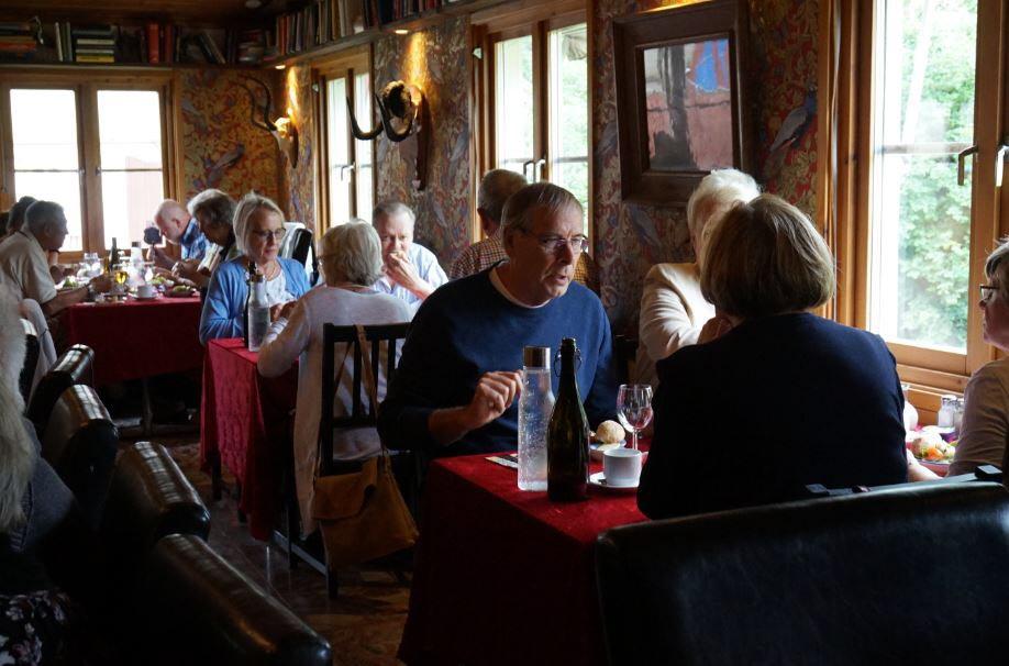 Lunch på Meg's (Foto: Karin Forsgard)