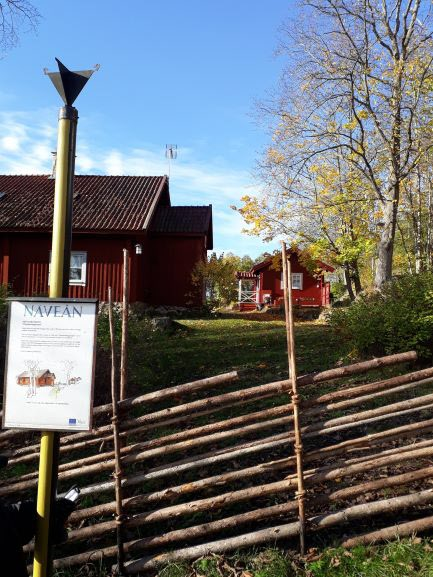 Fina små hus efter Näveån.